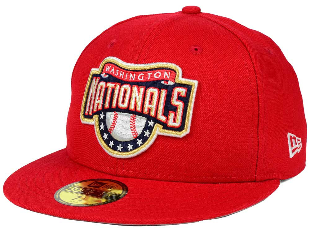 Washington Nationals New Era MLB Banner Patch 59FIFTY Cap  bf189b845498