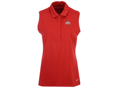 Ohio State Buckeyes Nike Golf NCAA Women's Victory Solid Sleeveless Polo