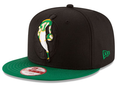 Boston Celtics New Era NBA HWC Logoman Blackout 9FIFTY Snapback Cap