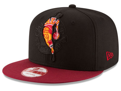 Cleveland Cavaliers New Era NBA HWC Logoman Blackout 9FIFTY Snapback Cap