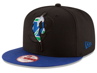 Dallas Mavericks New Era NBA HWC Logoman Blackout 9FIFTY Snapback Cap