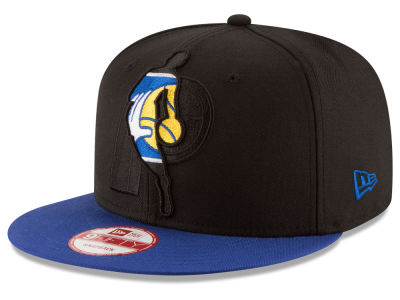 Indiana Pacers New Era NBA HWC Logoman Blackout 9FIFTY Snapback Cap