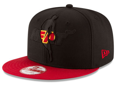 Miami Heat New Era NBA HWC Logoman Blackout 9FIFTY Snapback Cap