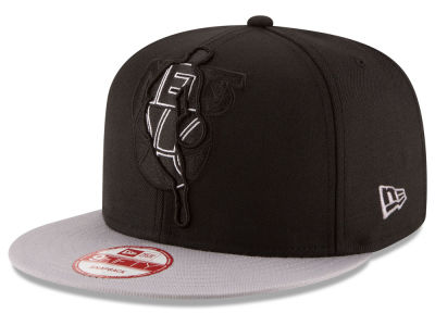 New Jersey Nets New Era NBA HWC Logoman Blackout 9FIFTY Snapback Cap