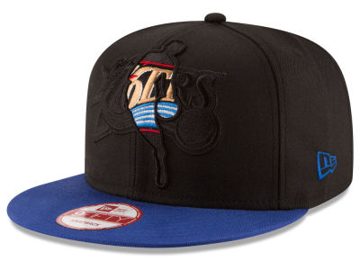 Philadelphia 76ers New Era NBA HWC Logoman Blackout 9FIFTY Snapback Cap