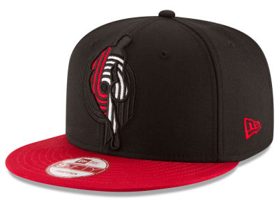 Portland Trail Blazers New Era NBA HWC Logoman Blackout 9FIFTY Snapback Cap