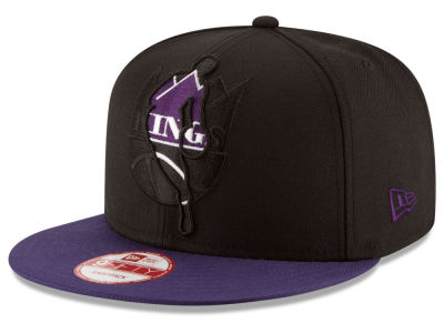 Sacramento Kings New Era NBA HWC Logoman Blackout 9FIFTY Snapback Cap