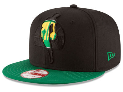Seattle SuperSonics New Era NBA HWC Logoman Blackout 9FIFTY Snapback Cap