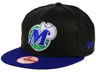 Dallas Mavericks New Era NBA HWC Leather Tri-Boss 9FIFTY Snapback Cap