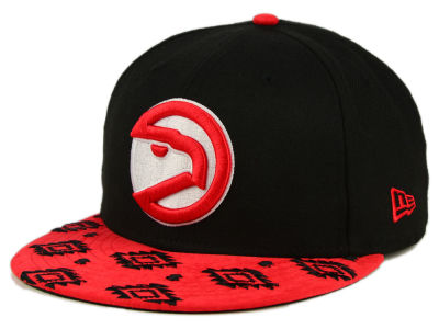 Atlanta Hawks New Era NBA HWC Sueded Print 9FIFTY Snapback Cap