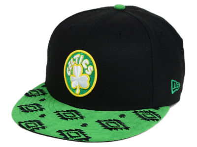 Boston Celtics New Era NBA HWC Sueded Print 9FIFTY Snapback Cap