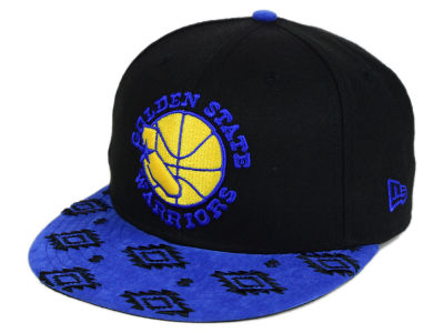 Golden State Warriors New Era NBA HWC Sueded Print 9FIFTY Snapback Cap