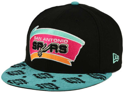 San Antonio Spurs New Era NBA HWC Sueded Print 9FIFTY Snapback Cap