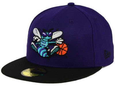 Charlotte Hornets New Era NBA HWC Anniversary Patch 59FIFTY Cap