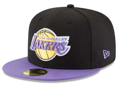 Los Angeles Lakers New Era NBA HWC Anniversary Patch 59FIFTY Cap