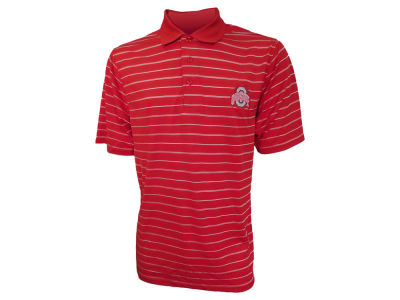 Ohio State Buckeyes NCAA Men's Stripe Poly Interlock Polo