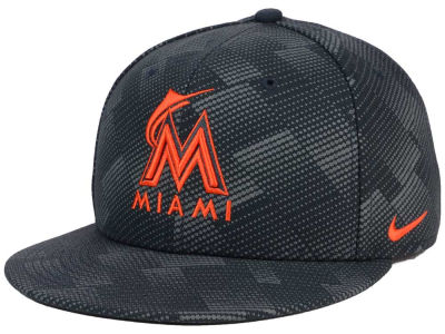Miami Marlins Nike MLB Anthracite Snapback Cap