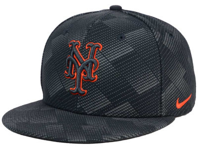 New York Mets Nike MLB Anthracite Snapback Cap