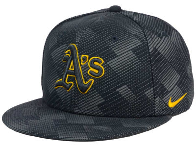 Oakland Athletics Nike MLB Anthracite Snapback Cap