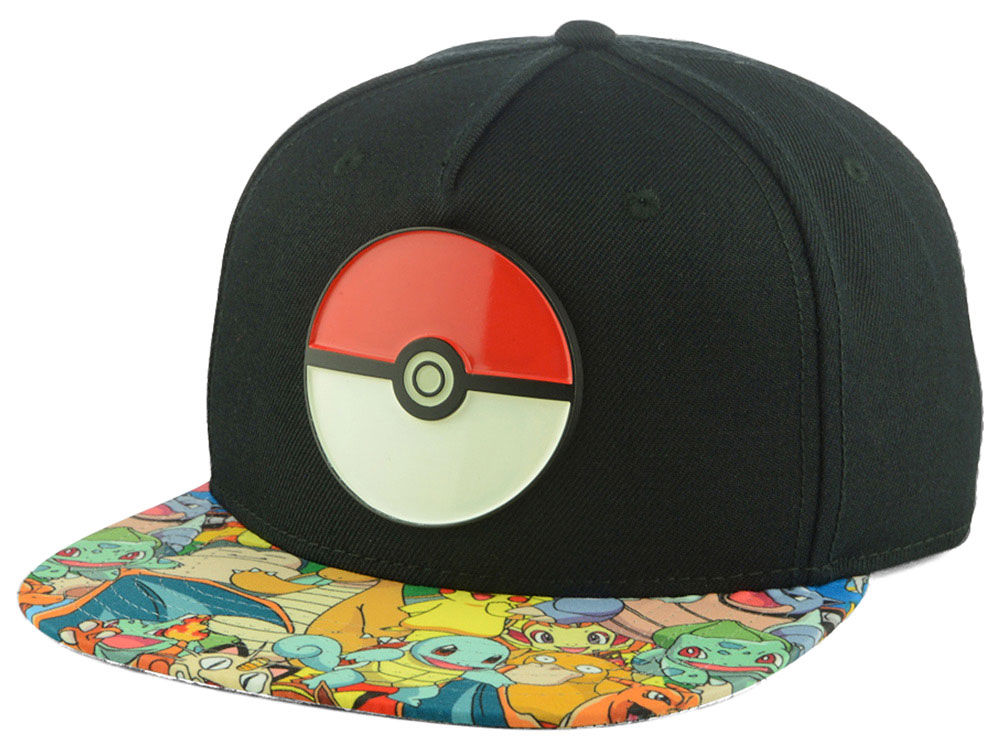 Pokemon Pokeball Snapback Hat 3b53a310be8