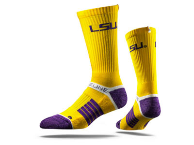 LSU Tigers NCAA Strideline Crew Socks