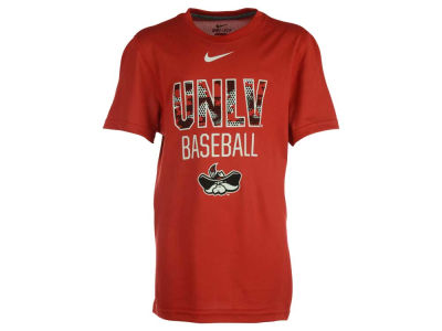 UNLV Runnin Rebels Nike NCAA Youth Team Issue Baseball Legend T-Shirt
