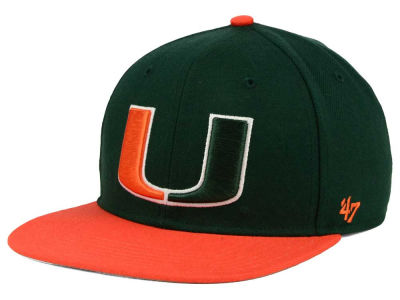 Miami Hurricanes '47 NCAA Sure Shot 2 Tone '47 CAPTAIN Cap