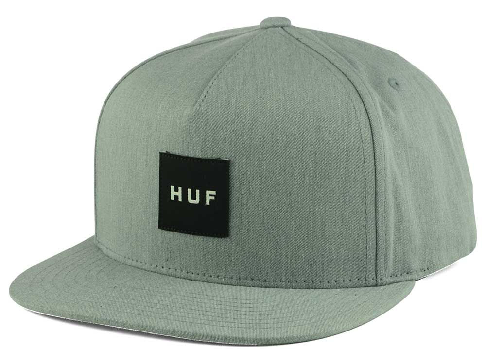 Huf Box Logo Snapback Hat  a447c968755a
