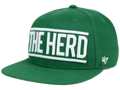 Marshall Thundering Herd '47 NCAA '47 On Track Snapback Cap