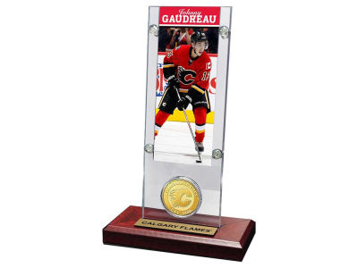 Calgary Flames Johnny Gaudreau Ticket and Coin Acrylic