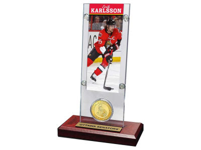 Ottawa Senators Erik Karlsson Ticket and Coin Acrylic