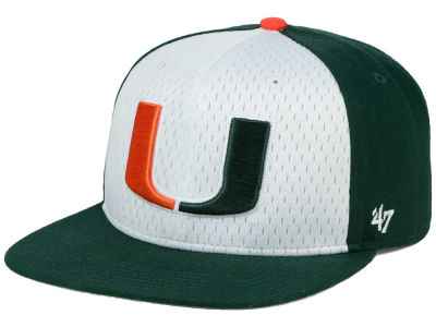 Miami Hurricanes '47 NCAA Backboard '47 CAPTAIN Snapback Cap