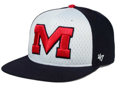 Ole Miss Rebels '47 NCAA Backboard '47 CAPTAIN Snapback Cap