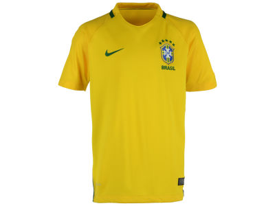 Brazil Nike National Team Youth Home Stadium Jersey
