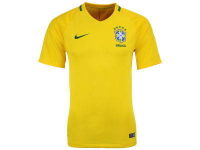 Brazil Nike MLS Men's 2016 National Team Home Stadium Soccer Jersey