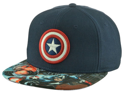 Captain America Marvel Sublimated Visor Snapback Hat