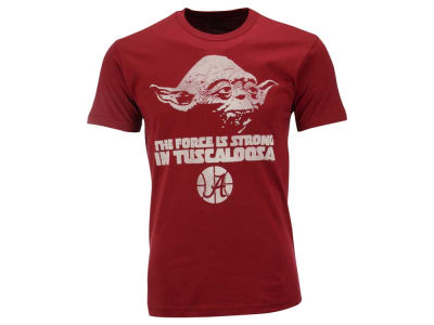 Alabama Crimson Tide NCAA Men's Yoda Head Force is Strong T-Shirt