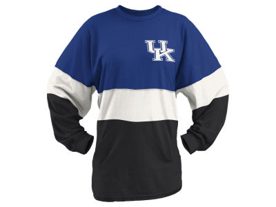 Kentucky Wildcats Pressbox NCAA Women's Coloblock Tri-Sweeper T-Shirt