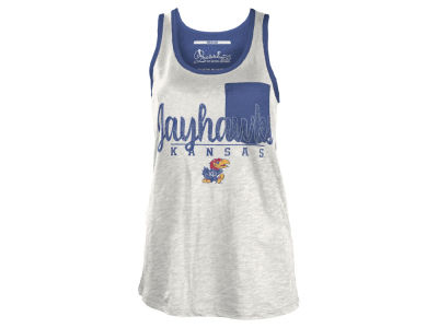 Kansas Jayhawks NCAA Women's Campbell Pocket Slub Tank