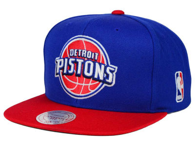 Detroit Pistons Mitchell and Ness NBA XL Logo Snapback Cap