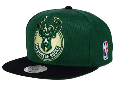 Milwaukee Bucks Mitchell and Ness NBA XL Logo Snapback Cap