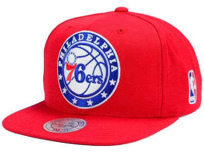 Philadelphia 76ers Mitchell and Ness NBA XL Logo Snapback Cap