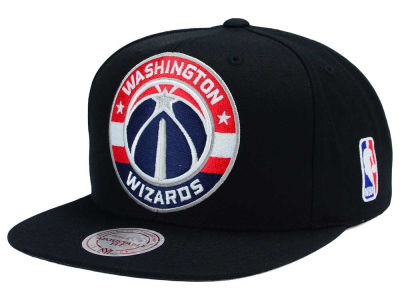 Washington Wizards Mitchell and Ness NBA XL Logo Snapback Cap