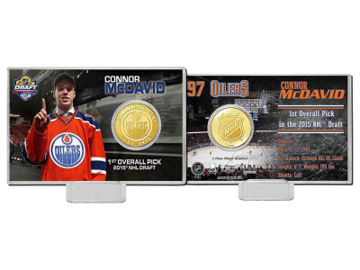 Edmonton Oilers Connor McDavid Player Coin Card