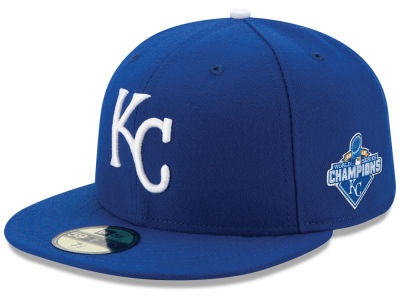 Kansas City Royals New Era MLB 2015 World Series Champ AC Patch 59FIFTY Cap