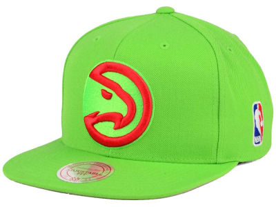Atlanta Hawks Mitchell and Ness NBA XL Logo Snapback Cap