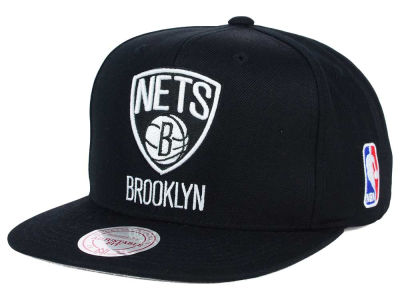 Brooklyn Nets Mitchell and Ness NBA XL Logo Snapback Cap