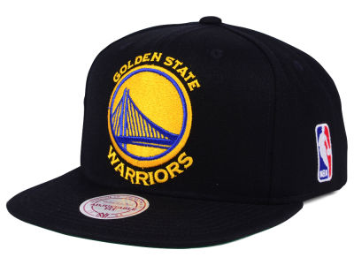 Golden State Warriors Mitchell & Ness NBA XL Logo Snapback Cap