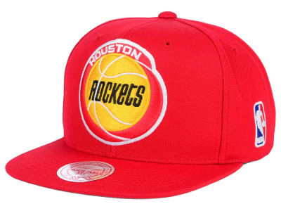 Houston Rockets Mitchell & Ness NBA XL Logo Snapback Cap