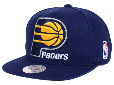Indiana Pacers Mitchell and Ness NBA XL Logo Snapback Cap